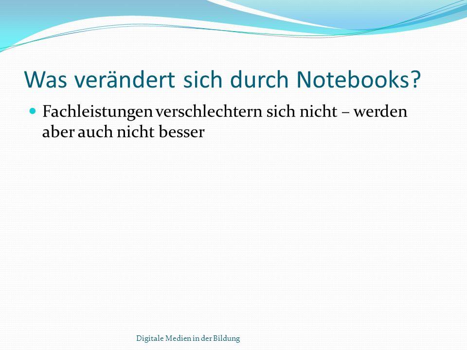 Was verändert sich durch Notebooks.
