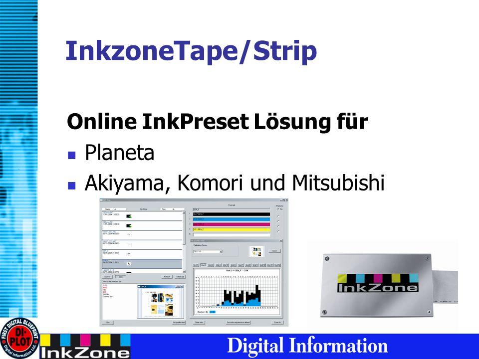 InkzoneTape/Strip Online InkPreset Lösung für Planeta Akiyama, Komori und Mitsubishi