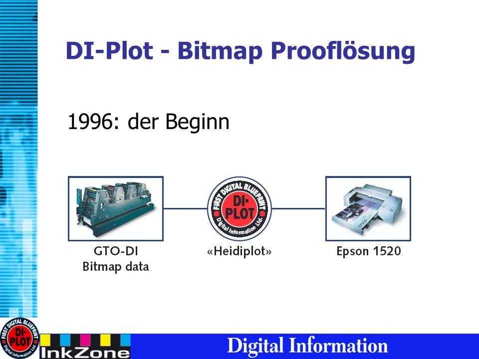 DI-Plot - Bitmap Prooflösung 1996: der Beginn