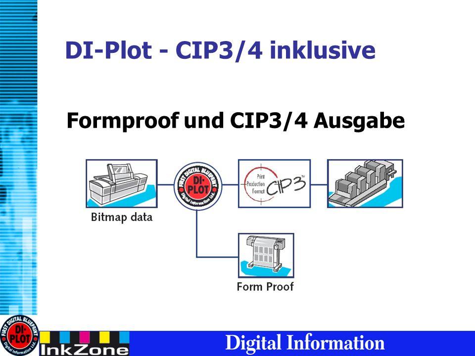 DI-Plot - CIP3/4 inklusive Formproof und CIP3/4 Ausgabe