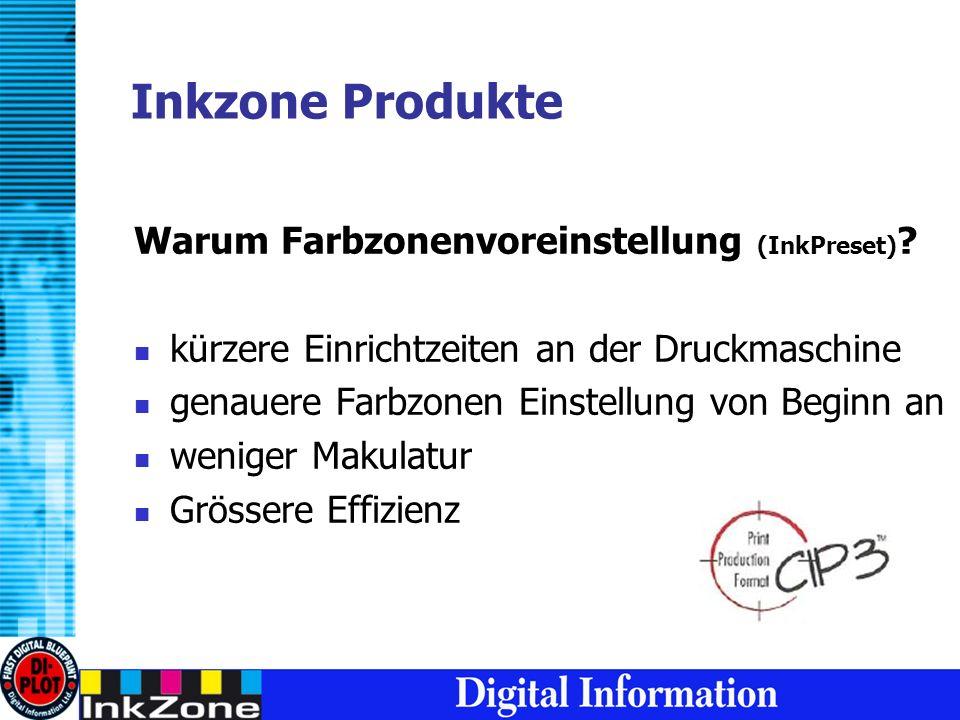 Inkzone Produkte Warum Farbzonenvoreinstellung (InkPreset) .
