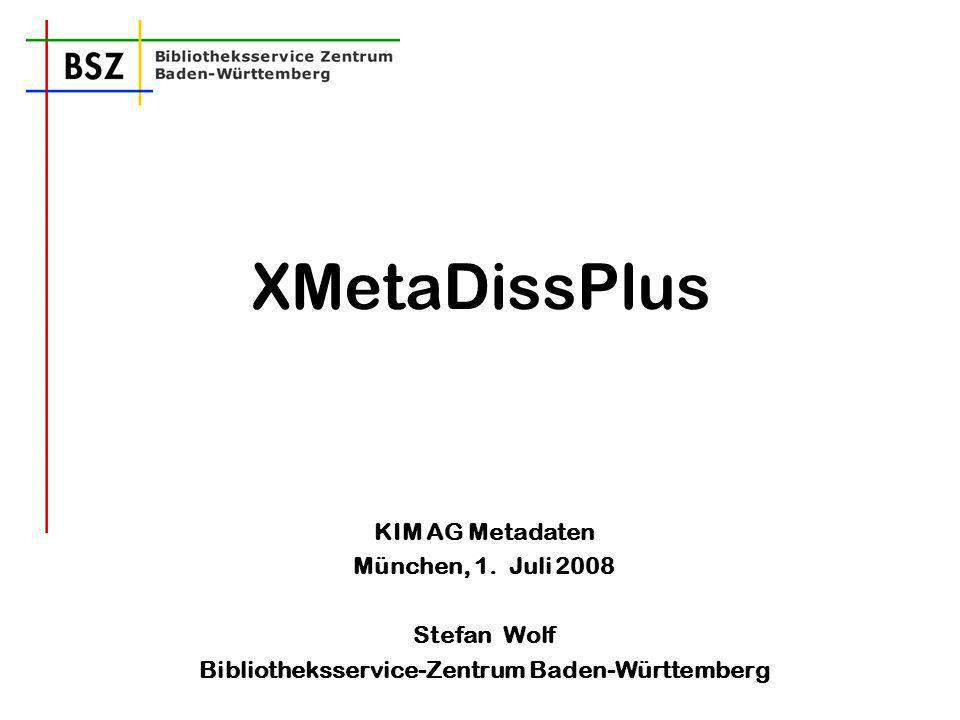 S. Wolf XMetaDissPlus12 Normdatenverknüpfung