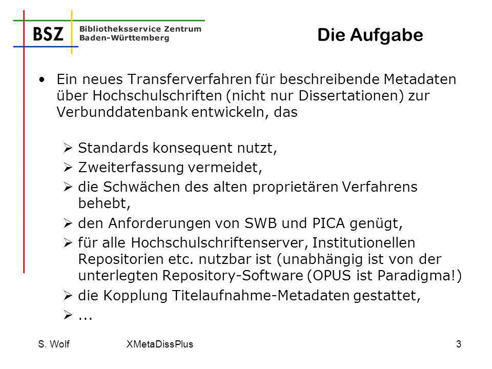 S. Wolf XMetaDissPlus14 Skript: Ausschnitt title