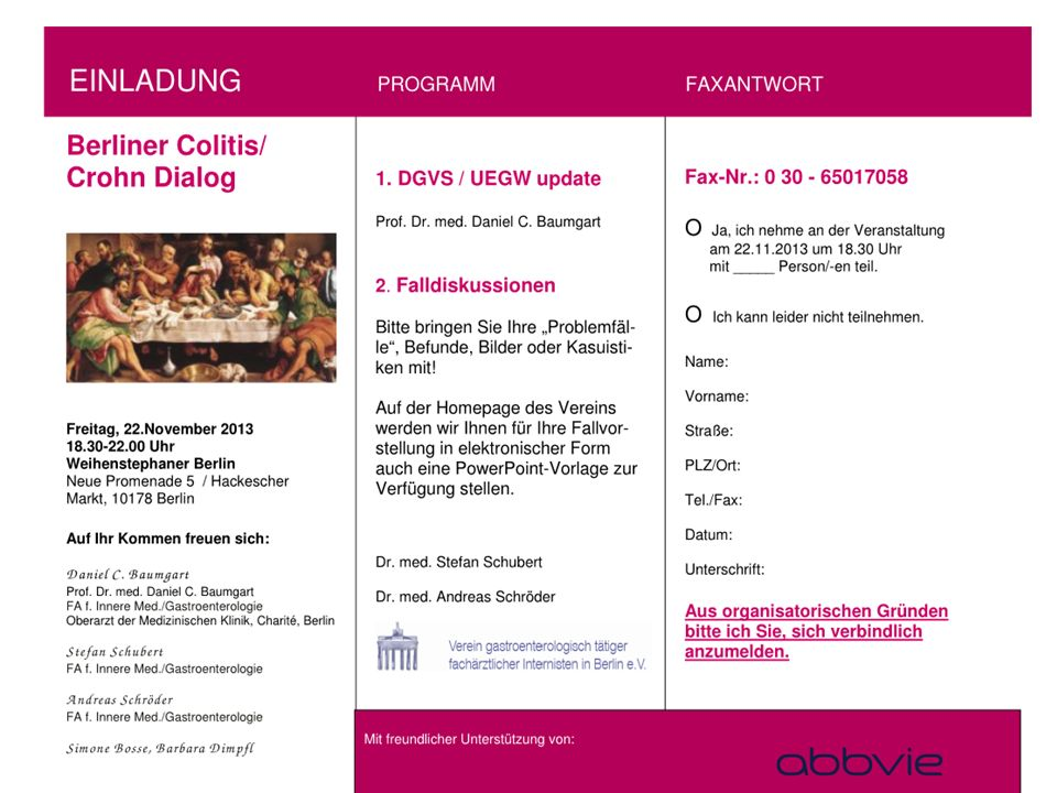 22.11.2013 Berliner Colitis-Crohn-Dialog