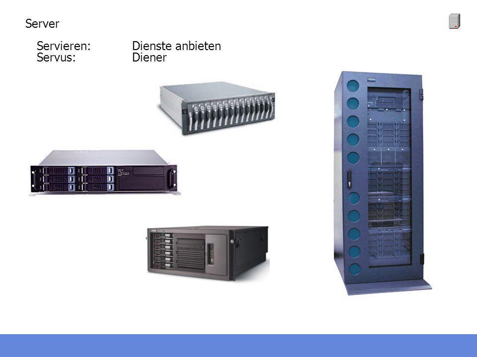 Server Servieren: Dienste anbieten Servus: Diener