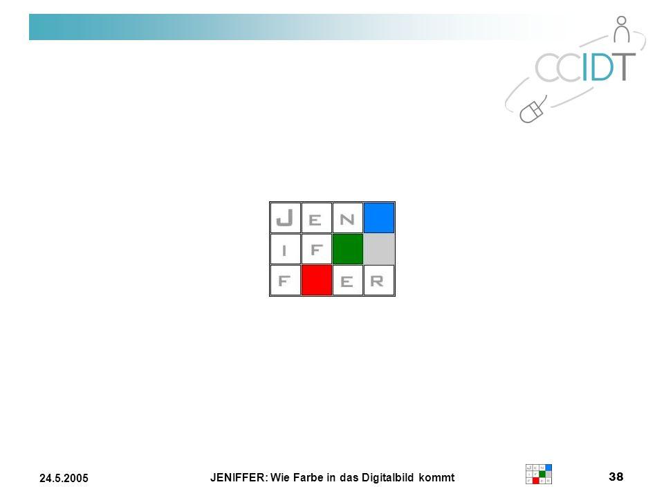 JENIFFER: Wie Farbe in das Digitalbild kommt 38 24.5.2005