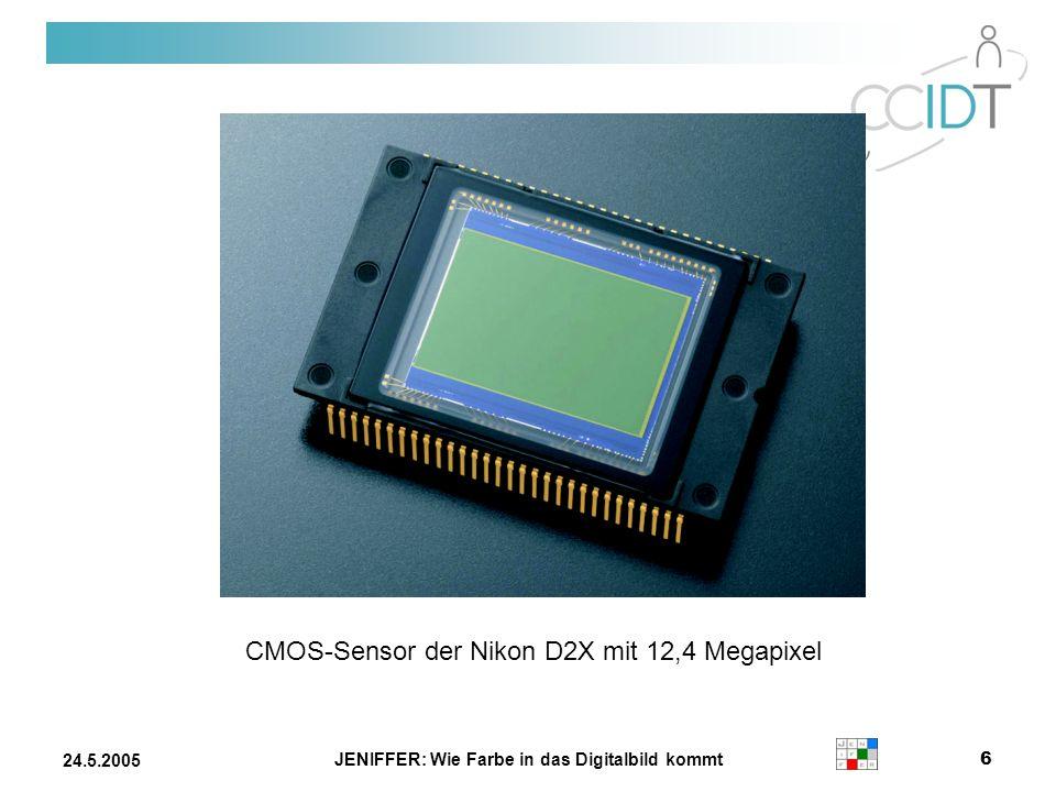 JENIFFER: Wie Farbe in das Digitalbild kommt 6 24.5.2005 CMOS-Sensor der Nikon D2X mit 12,4 Megapixel