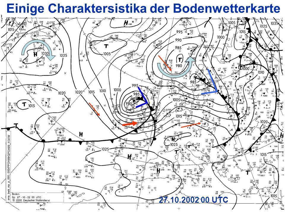 19 27.10.2002 00 UTC Einige Charaktersistika der Bodenwetterkarte