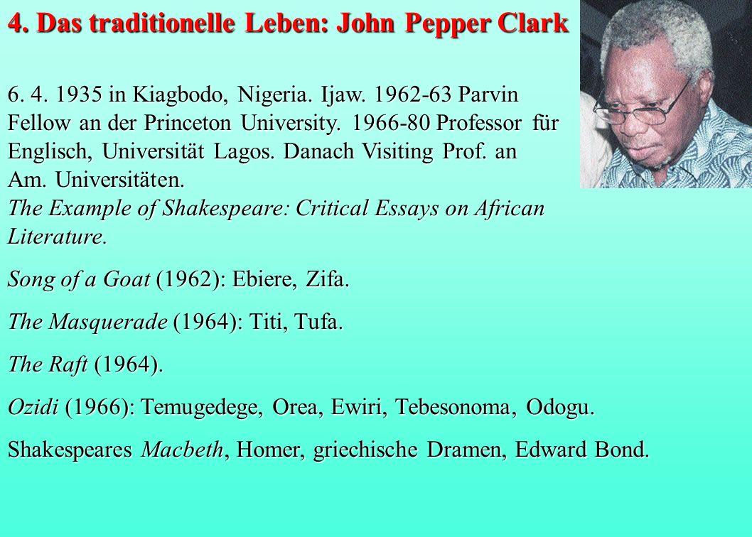 6. 4. 1935 in Kiagbodo, Nigeria. Ijaw. 1962-63 Parvin Fellow an der Princeton University. 1966-80 Professor für Englisch, Universität Lagos. Danach Vi