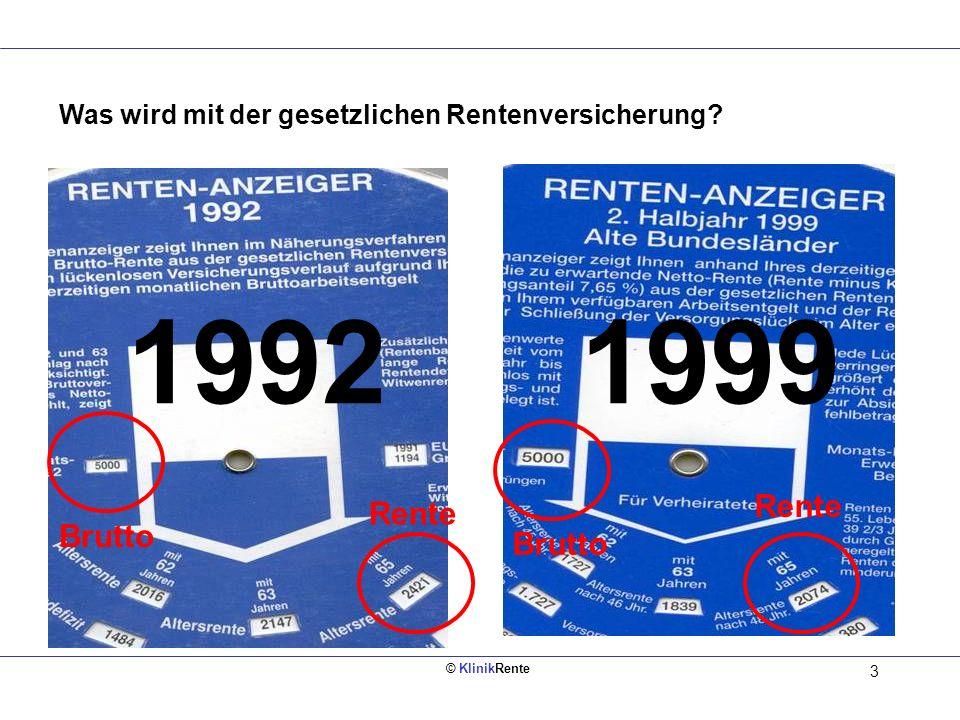 © KlinikRente 13 = Netto - Sozialver- sicherung - Steuern ca.