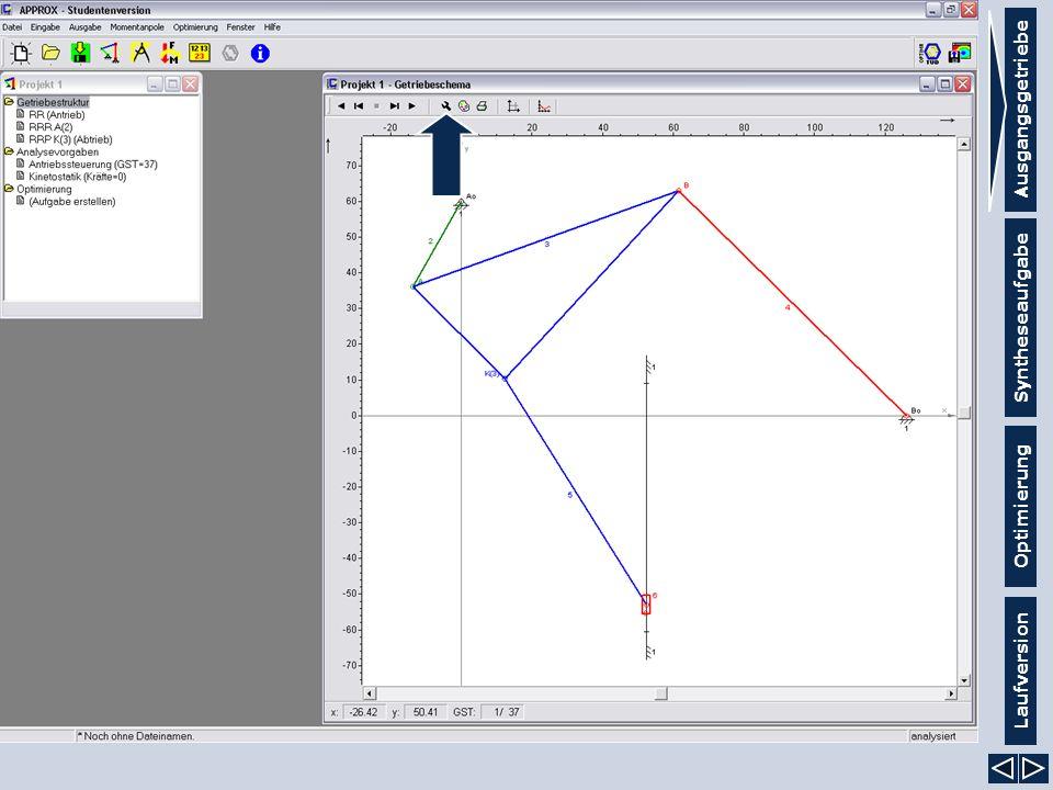 Ausgangsgetriebe Syntheseaufgabe Laufversion Optimierung