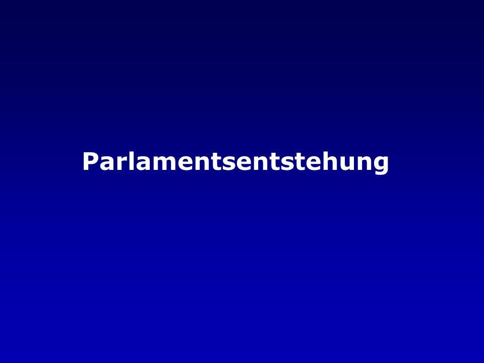 Parlamentsentstehung