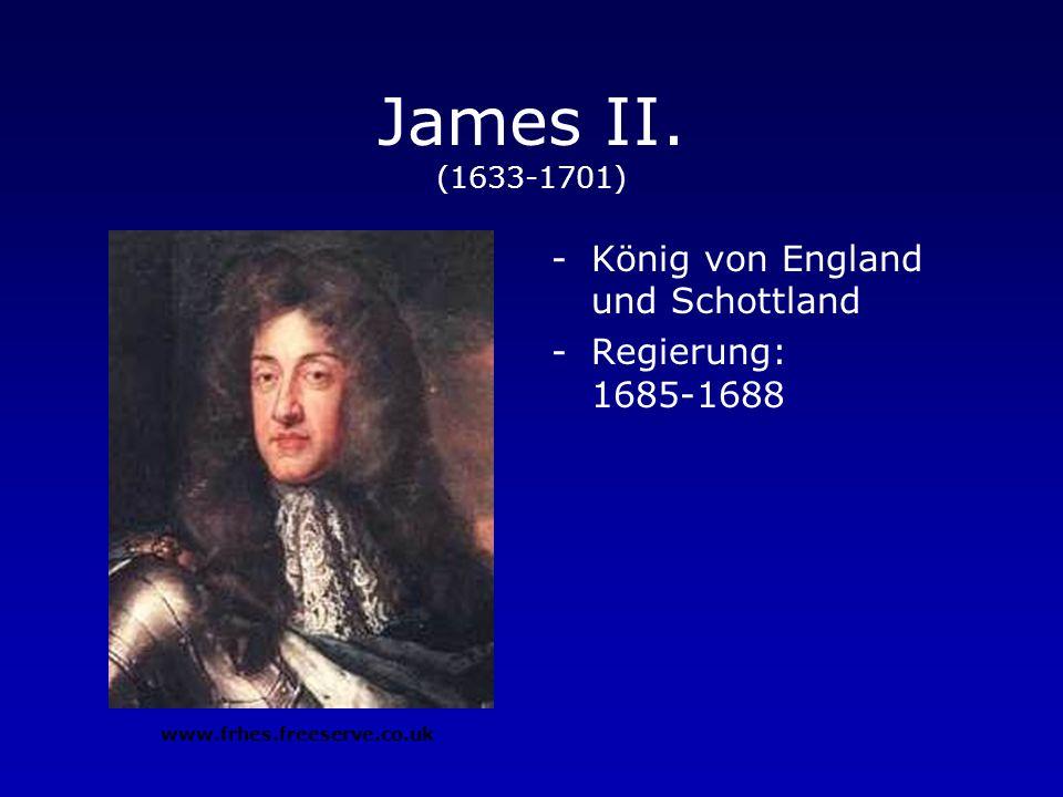 Charles II. (1630-1685) -König von England und Schottland -Regierung: 1660-1685 www.frhes.freeserve.co.uk