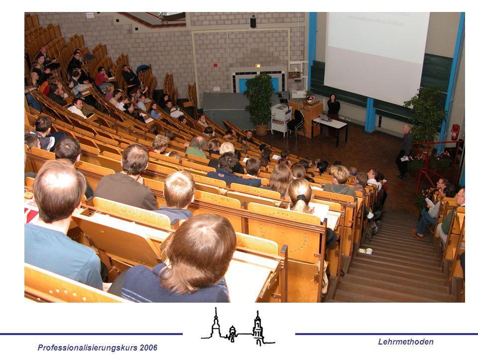 Professionalisierungskurs 2006 Lehrmethoden Fazit Perspektivenwechsel für eine innovative Lehre: From the Sage on the Stage to the Guide on the Side