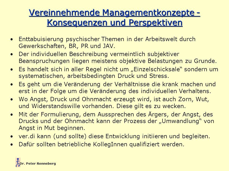 Dr. Peter Renneberg Enttabuisierung psychischer Themen in der Arbeitswelt durch Gewerkschaften, BR, PR und JAV. Der individuellen Beschreibung vermein