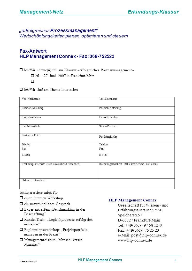 Management-Netz Erkundungs-Klausur HLP-erfPzM-V-1.ppt HLP Management Connex 5