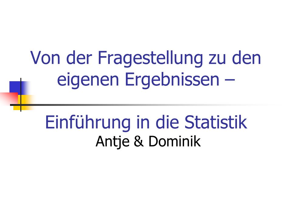 Kurze Geschichte der Statistik G.