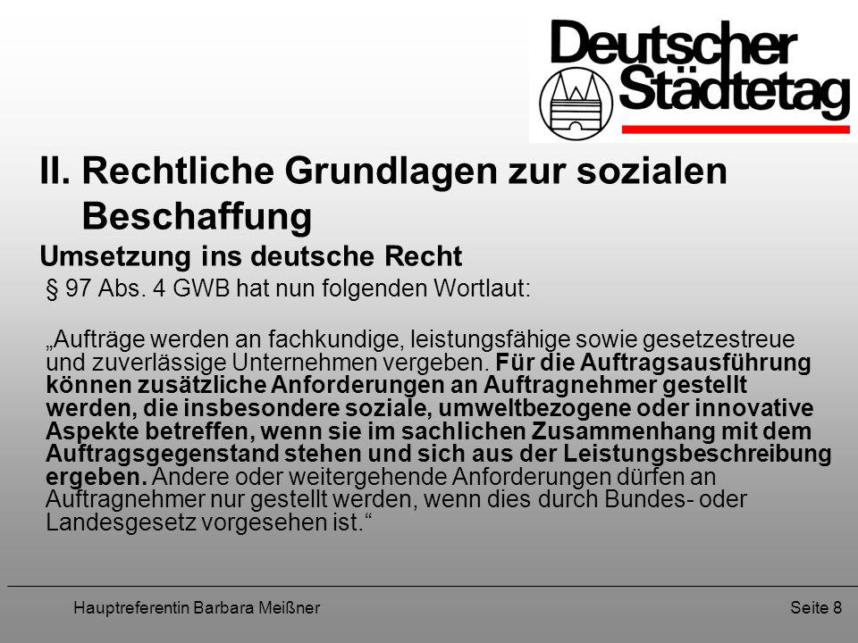 Hauptreferentin Barbara MeißnerSeite 9 II.