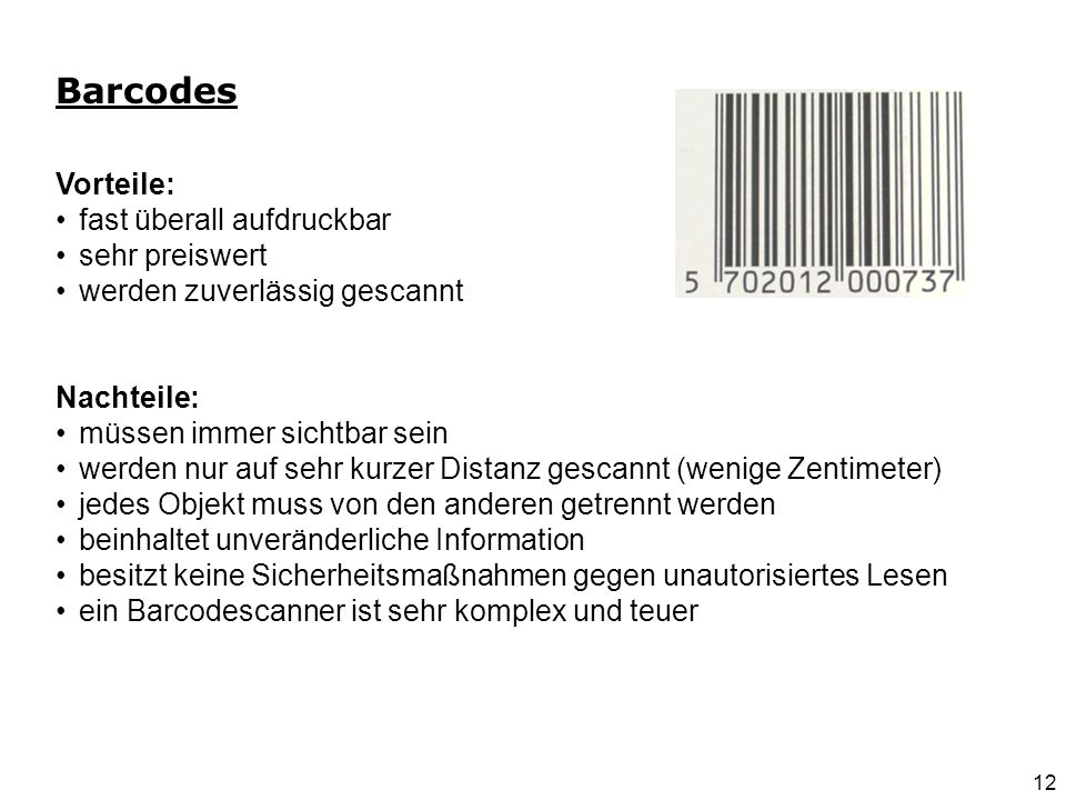 Smart Labels bzw. Smart Tags 13