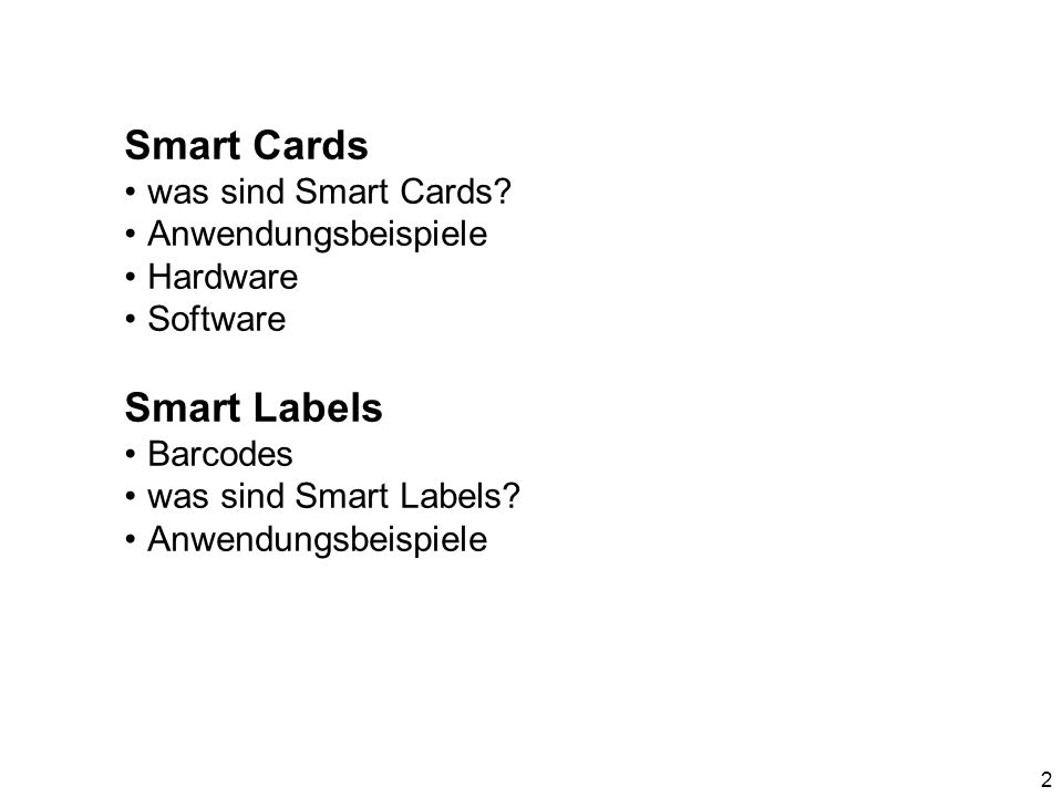 Smart Cards 3