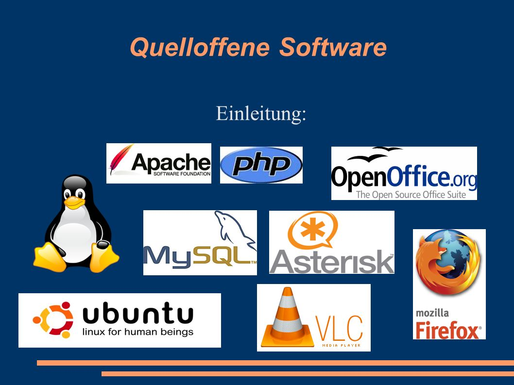 Quelloffene Software Einleitung: