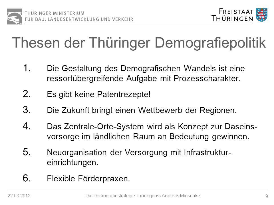 20 22.03.2012Die Demografiestrategie Thüringens / Andreas Minschke Weitere Maßnahmen Thüringer Zukunftspreis IBA Thüringen - Ein ganzes Land wird IBA.