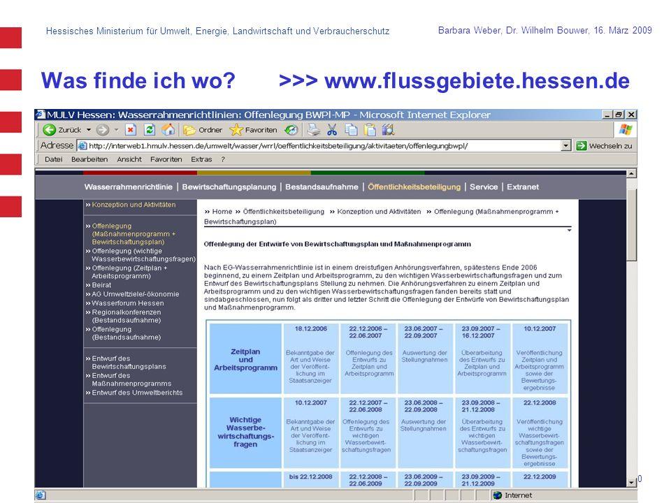 Hessisches Ministerium für Umwelt, Energie, Landwirtschaft und Verbraucherschutz 10 Barbara Weber, Dr.
