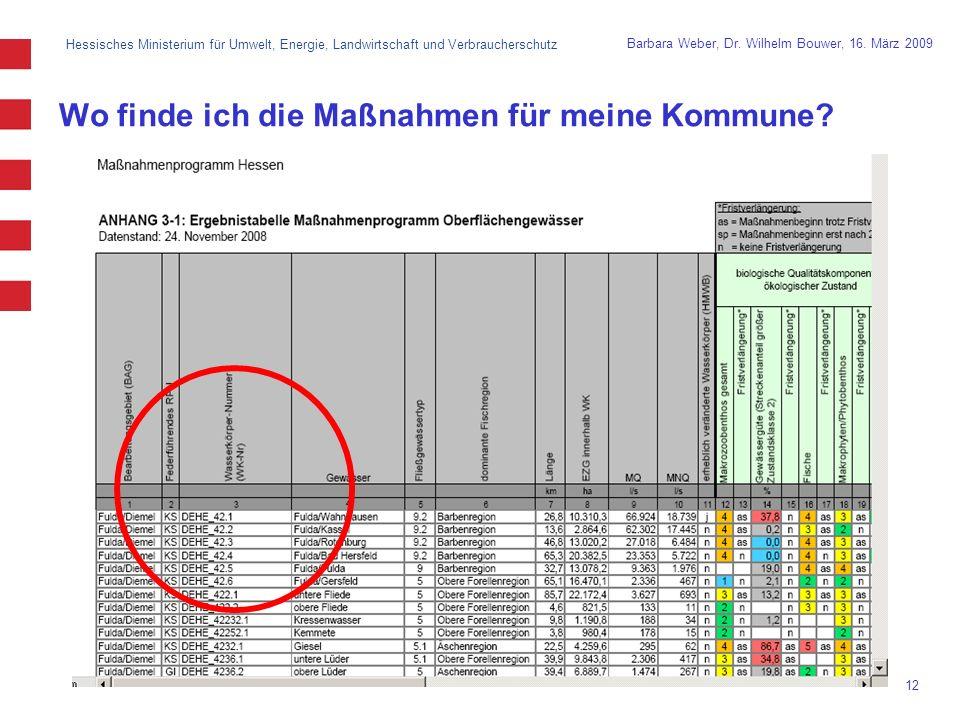 Hessisches Ministerium für Umwelt, Energie, Landwirtschaft und Verbraucherschutz 12 Barbara Weber, Dr.