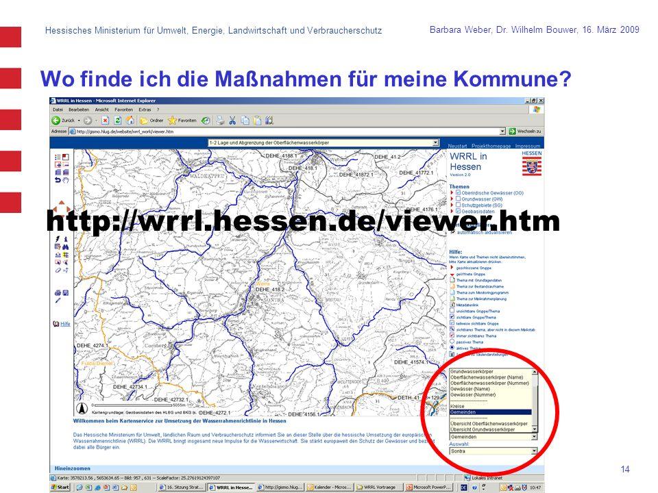 Hessisches Ministerium für Umwelt, Energie, Landwirtschaft und Verbraucherschutz 14 Barbara Weber, Dr.