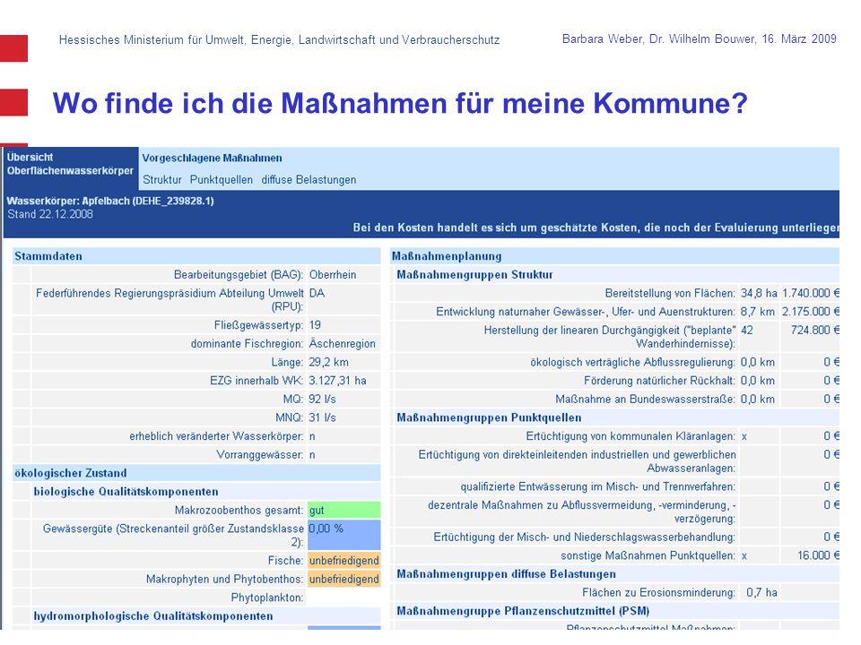 Hessisches Ministerium für Umwelt, Energie, Landwirtschaft und Verbraucherschutz 15 Barbara Weber, Dr.
