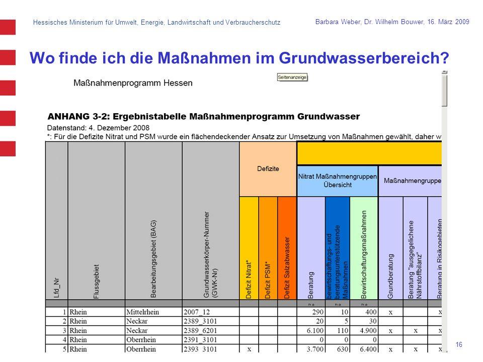 Hessisches Ministerium für Umwelt, Energie, Landwirtschaft und Verbraucherschutz 16 Barbara Weber, Dr.
