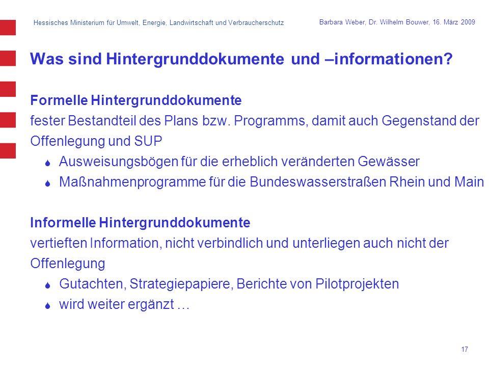 Hessisches Ministerium für Umwelt, Energie, Landwirtschaft und Verbraucherschutz 17 Barbara Weber, Dr.