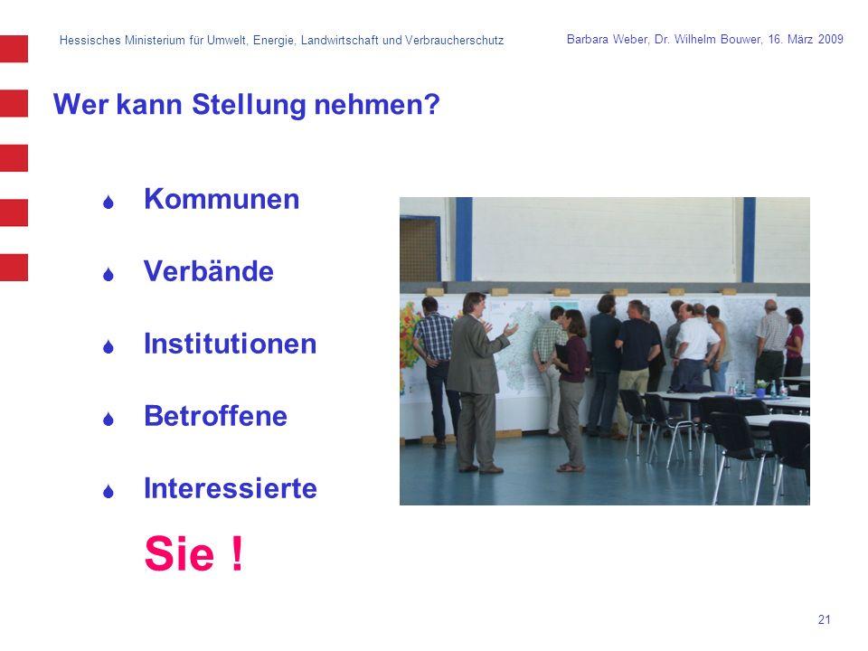 Hessisches Ministerium für Umwelt, Energie, Landwirtschaft und Verbraucherschutz 21 Barbara Weber, Dr.