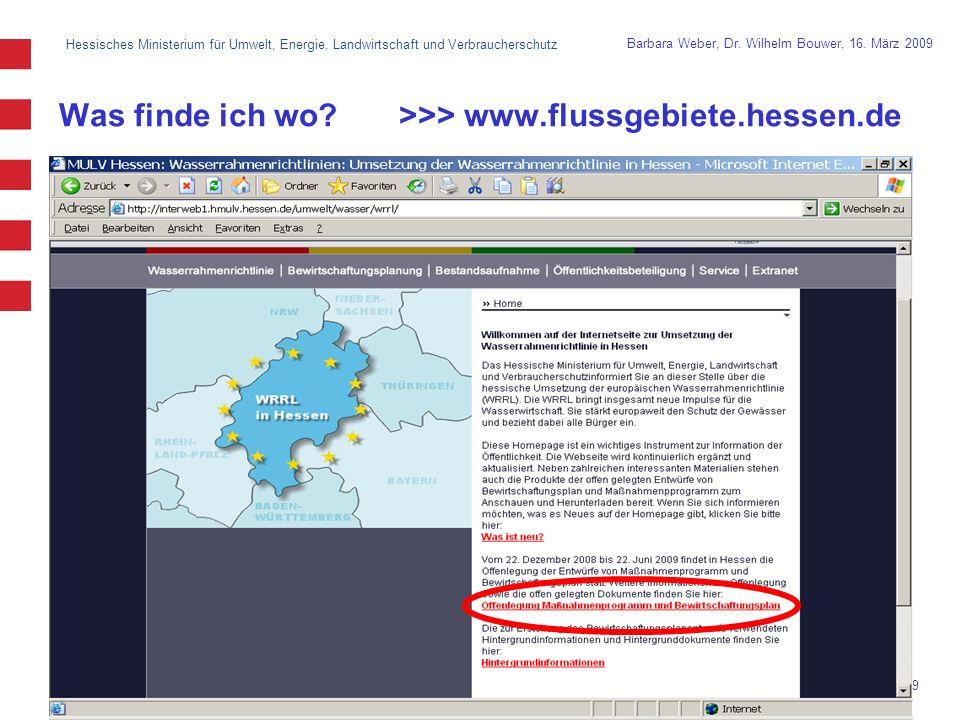 Hessisches Ministerium für Umwelt, Energie, Landwirtschaft und Verbraucherschutz 9 Barbara Weber, Dr.
