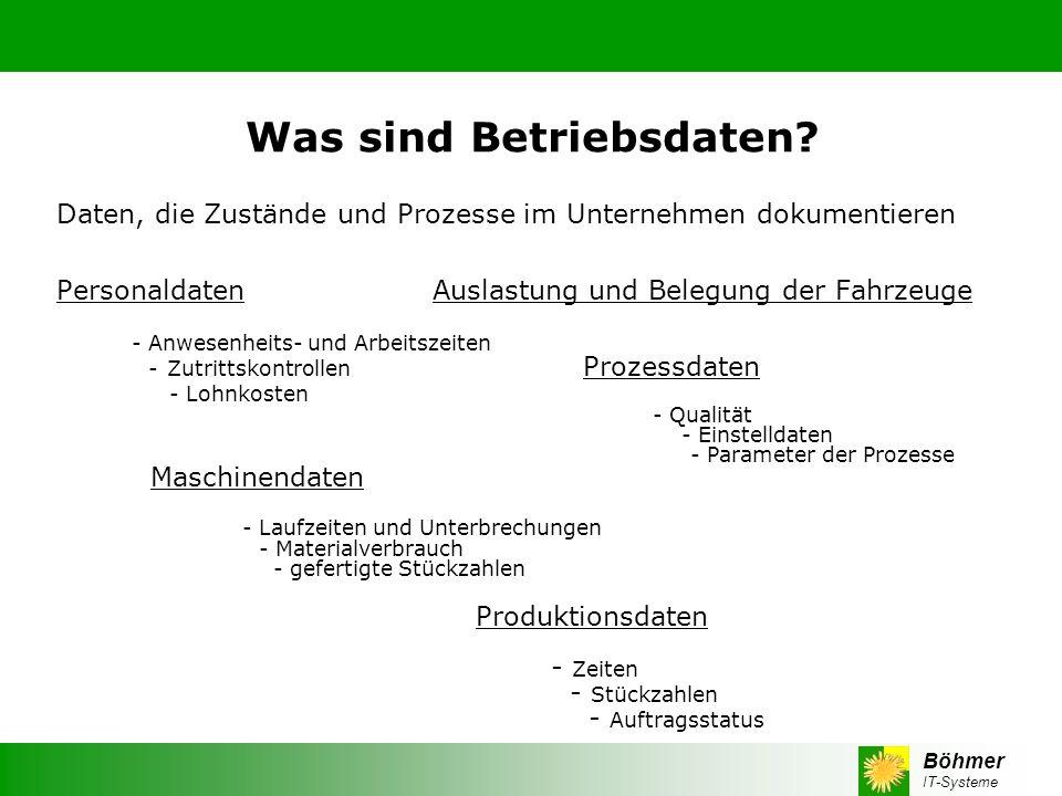 Böhmer IT-Systeme Die Wichtigste Frage: Wie funktioniert BDE in der Praxis.