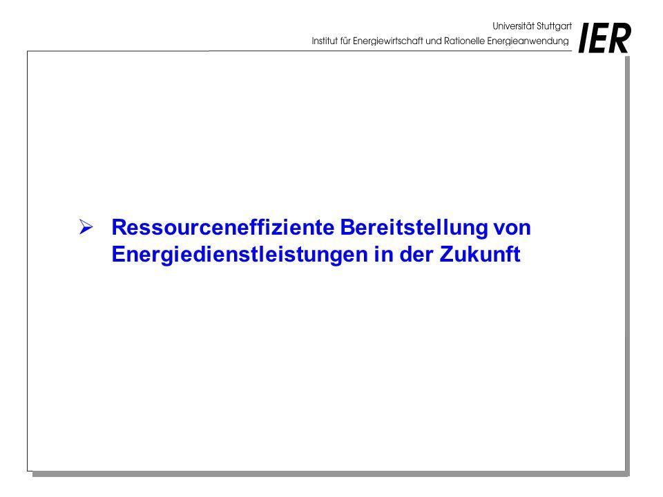 Ressourceneffiziente Bereitstellung von Energiedienstleistungen in der Zukunft