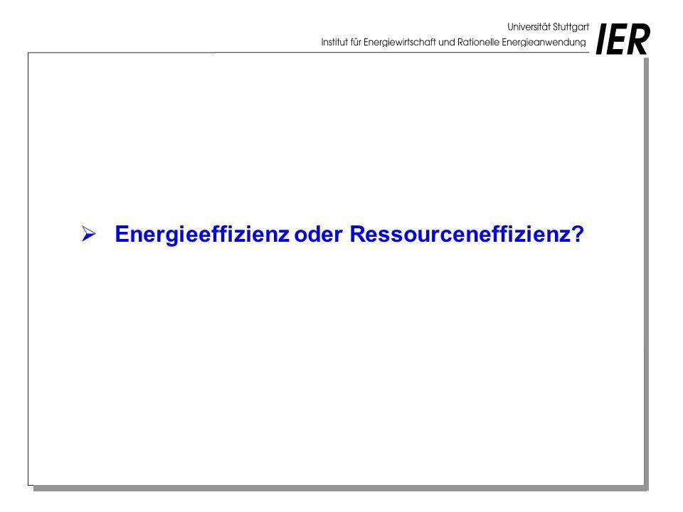 Energieeffizienz oder Ressourceneffizienz?