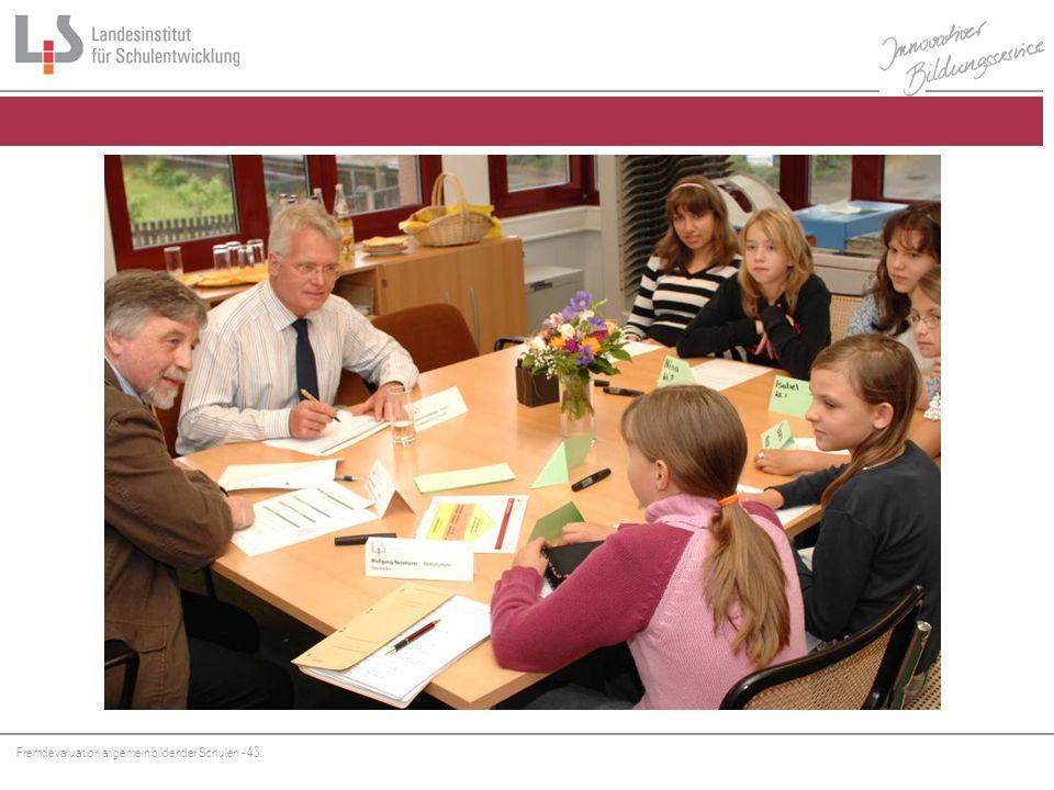 Fremdevaluation allgemein bildender Schulen - 43