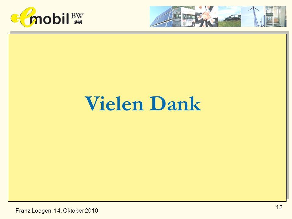 12 Vielen Dank Franz Loogen, 14. Oktober 2010