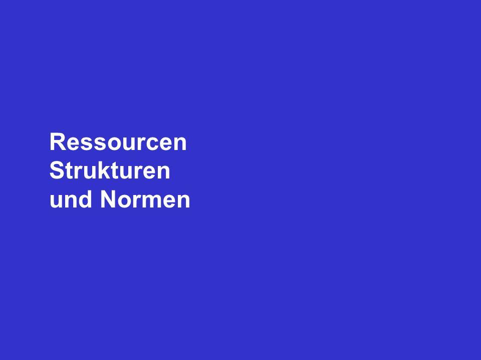 Ressourcen Strukturen und Normen