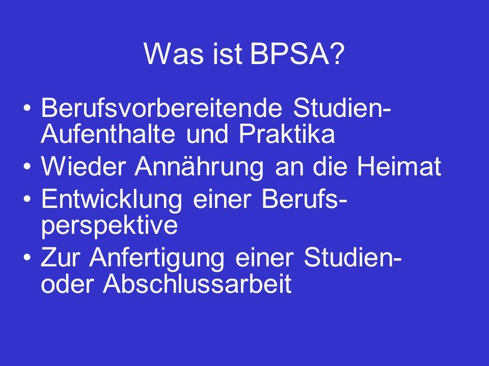 Was ist BPSA.