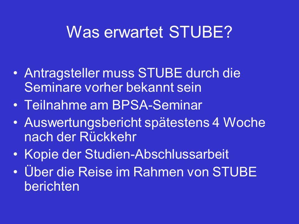 Was erwartet STUBE.