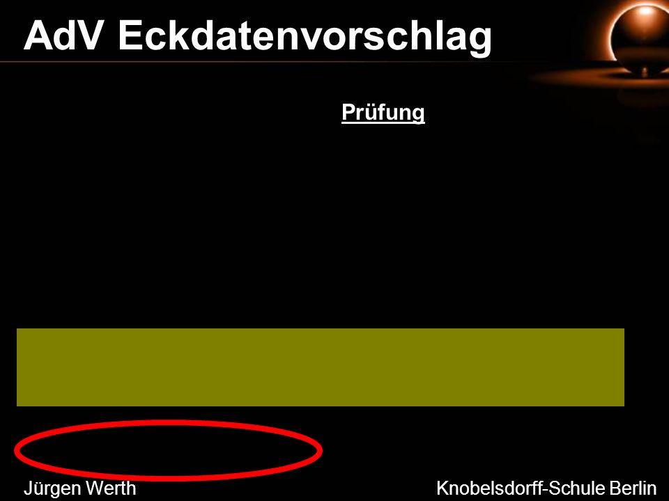 Jürgen Werth Knobelsdorff-Schule Berlin AdV Eckdatenvorschlag Prüfung