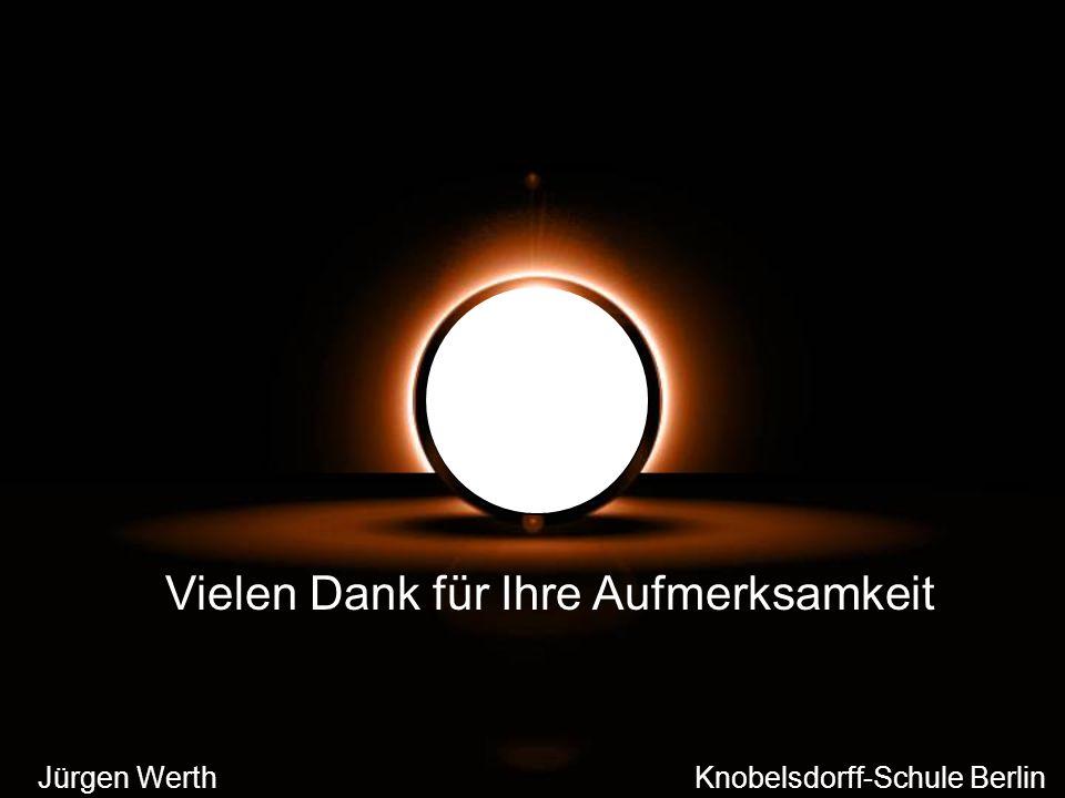 Jürgen Werth Knobelsdorff-Schule Berlin Vielen Dank für Ihre Aufmerksamkeit