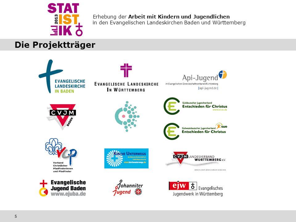 Erhebung der Arbeit mit Kindern und Jugendlichen in den Evangelischen Landeskirchen Baden und Württemberg 5 Die Projektträger