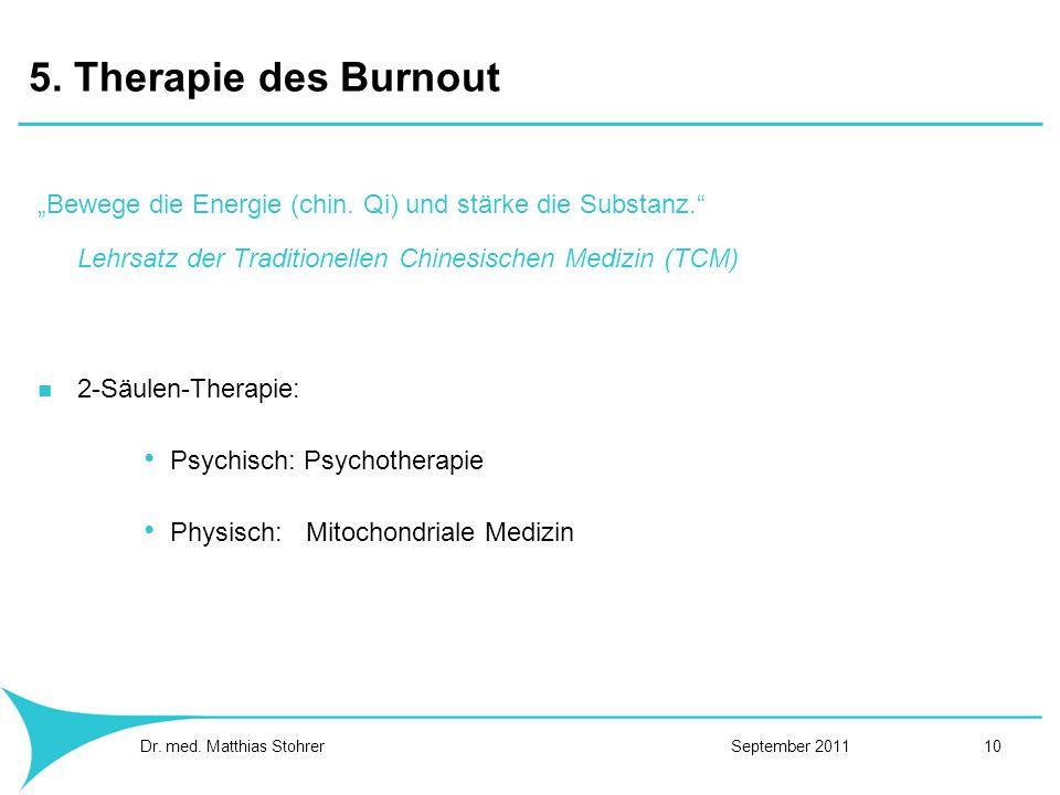 5. Therapie des Burnout Bewege die Energie (chin. Qi) und stärke die Substanz. Lehrsatz der Traditionellen Chinesischen Medizin (TCM) 2-Säulen-Therapi