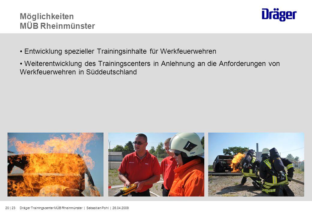 Dräger Trainingscenter MÜB Rheinmünster | Sebastian Pohl | 26.04.200920 | 23 Möglichkeiten MÜB Rheinmünster Entwicklung spezieller Trainingsinhalte fü