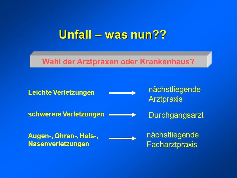 Unfall – was nun?.