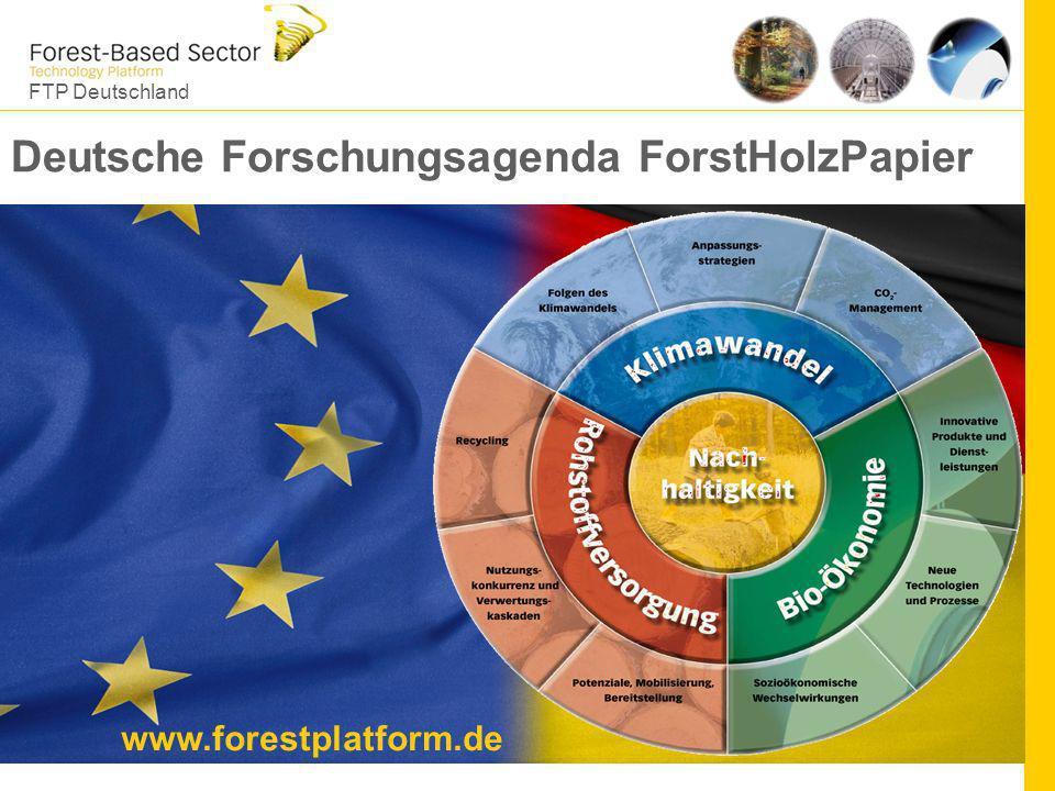 FTP Deutschland 5 Deutsche Forschungsagenda ForstHolzPapier www.forestplatform.de