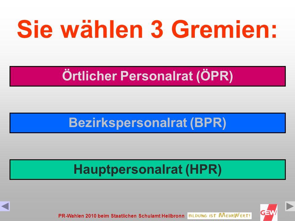 PR-Wahlen 2010 beim Staatlichen Schulamt Heilbronn2 Diese Präsentation soll Ihnen den Ablauf der Wahl und die Wahlgrundsätze erklären, mögliche Fehler